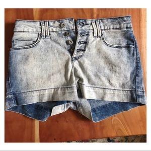 L.e.i. High rise jean shorts